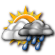 Mostly Cloudy with Numerous Showers